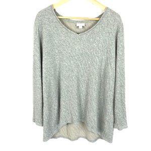 J. Jill pure Jill hi low crinkle cotton blouse top